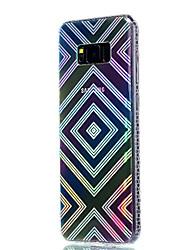 economico -Custodia Per Samsung Galaxy S8 Plus S8 Placcato Traslucido Fantasia/disegno Custodia posteriore Geometrica Morbido TPU per S8 S8 Plus S7