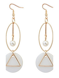 cheap -Women's Drop Earrings Hoop Earrings Jewelry Basic Unique Design Logo Style Dangling Style Pendant Pearl Geometric Friendship Adorable