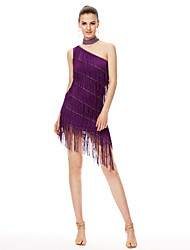 Shall We Latin Dance Dresses Women's  Performance Chinlon High Dress