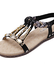 -Для женщин-Для офиса Для праздника Повседневный-Полиуретан-На танкетке-Светодиодные подошвы Удобная обувь-Сандалии