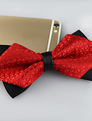 cheap -Men's Polyester Bow Tie,Vintage Cute Party Work Casual Jacquard All Seasons Red