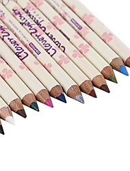 cheap -12Pcs Beauty Make Up Magic Water-Resistant Wood Handle 12 Color Waterproof 24 Hours Long Lasting Natural Hold Eyeliner