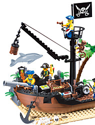 cheap -ENLIGHTEN Building Blocks Model Building Kit Ship Pirate Pirates Toy Gift