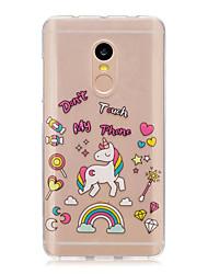 economico -Per xiaomi redmi nota 4 nota 3 3s caso copertina unicorno modello copertina morbida tpu redmi nota