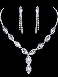 cheap -Women's Bridal Jewelry Sets AAA Cubic Zirconia Unique Design Pendant Initial Jewelry Wedding Party Special Occasion Cubic Zirconia Alloy