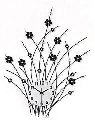 baratos -Moderno/Contemporâneo Florais/Botânicos Férias Inspiracional Desenho Animado Família Amigos Relógio de parede,Inovador Acrilico Metal