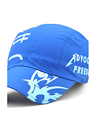 Unisex Men/Women's Polyester Baseball Cap Sun Hat Work Casual Quick/Rapid Drying Cap The Letter Print Summer All Seasons Black/Blue/Grey/Khaki
