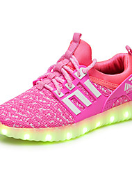 cheap -Boys' Shoes Tulle Summer Fall Light Up Shoes Gladiator Sneakers for Casual Office & Career Outdoor Black Fuchsia Green Blue Pink