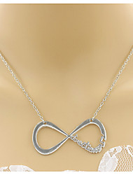 Women's Pendant Necklaces Chain Necklaces Jewelry Triangle Shape Infinity Alloy Basic Unique Design Dangling Style Rhinestones Natural