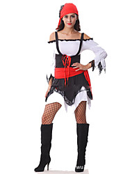 Pirate Cosplay Costumes Female Festival/Holiday Halloween Costumes Red/black Halloween Carnival Fashion