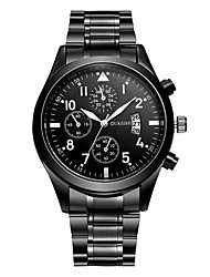 cheap -Men's Dress Watch Fashion Watch Quartz Casual Watch Stainless Steel Band Casual Black