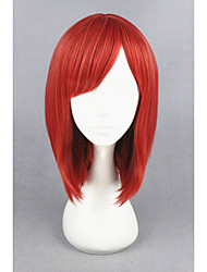 cheap -Costume Wigs / Synthetic Wig Straight Red Women's Capless Carnival Wig / Halloween Wig / Cosplay Wig Short Synthetic Hair
