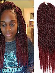 cheap -crochet braided hair Kanekalon Fiber Braiding Hair 22inch 12Roots Ombre 3D Cubic Twist Crochet Hair Braid Extensions 6-8pieces make full head