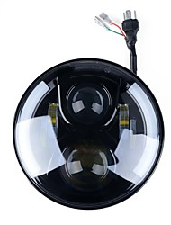 abordables -Phare avant ronde kawell de 7 po pour harley davidsion moto daymaker avec ange eye drl led projecteur projecteur pour jeep applications