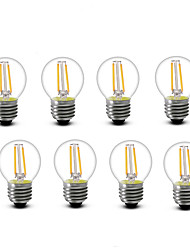 2W E14 E27 LED Filament Bulbs G45 2 COB 200 lm Warm White 2700 K Decorative AC220 AC230 AC240 V 8pcs