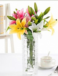 cheap -Artificial Flowers 4 Branch Modern Style Lilies Tabletop Flower