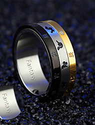 Twelve zodiac rotating ring men's Japanese version of the stainless steel three ring ring student jewelry can lettering GJ517