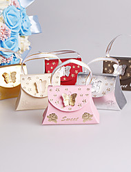 cheap -Creative Card Paper Favor Holder with Bowknot Ribbons Favor Boxes Gift Boxes - 25
