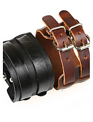 cheap -Men's Leather Leather Bracelet - Unique Design / Punk / European Black / Brown Bracelet For Christmas Gifts / Party / Daily / Men's