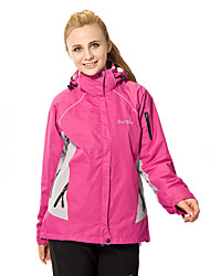 cheap -Women's Hiking 3-in-1 Jackets Outdoor Winter Waterproof Thermal / Warm Windproof Fleece Lining Rain-Proof Wearable Breathable Protective