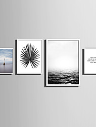 cheap -E-HOME® Framed Canvas Art   Simple Sea And Plant Series (1) Theme Series Framed Canvas Print One Pcs