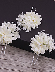 cheap -Fabric Hair Pin with 1 Wedding / Special Occasion / Casual Headpiece