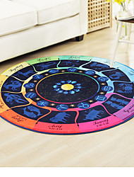 cheap -Creative Modern Area Rugs Polyester, Superior Quality Square Shape Multi Color Rug