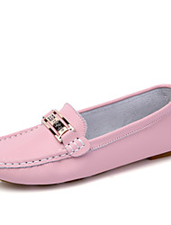 Women's Loafers & Slip-Ons Summer Fall Comfort PU Outdoor Office & Career Casual Blushing Pink Blue Red Yellow Black
