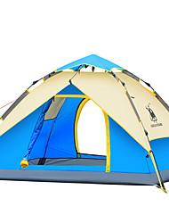 preiswerte -3-4 Personen Zelt Doppel Camping Zelt Außen Automatisches Zelt Wasserdicht Windundurchlässig UV-resistant Klappbar für Wandern Camping