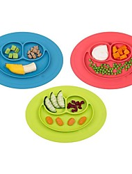 cheap -1Pcs  New Toddler Baby Kids Food Placemat One-Piece Silicone Divided Dish Bowl Plates
