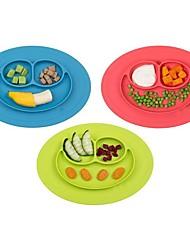 baratos -1pcs novo bebê criança miúdos placemat alimentos de uma peça de silicone dividido prato tigela placas