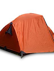 JUNGLEBOA® 3-4 Personen Zelt Doppel Camping Zelt Einzimmer Falt-Zelt Wasserdicht Tragbar Regendicht für Wandern Camping >3000mm Glasfaser