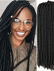 cheap -Faux Locs Crochet Braids Twist Extensions fauxlocs hair African Braiding Kanekalon Soft Dread Locks 24roots/pack synthetic hair braiding