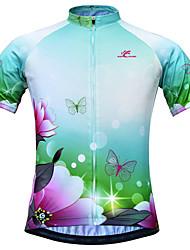 JESOCYCLING Maglia da ciclismo Per donna Manica corta Bicicletta Maglietta/Maglia Asciugatura rapida Traspirante Materiali leggeri Tasca