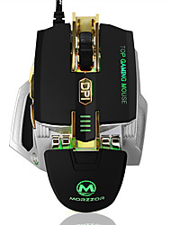 cheap -High-end 4000DPI Wired Gaming Mouse Macro Definition LED Usb Mouse With Memory Function Weight Increasing Mechanical Metal Mouse