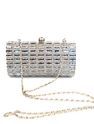 cheap -Women Bags PU Metal Clutch Crystal/ Rhinestone for Wedding Event/Party Formal Office & Career All Seasons Black