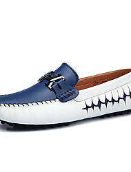 Men's Boat Shoes Comfort Driving Shoes PU Spring Summer Casual Office & Career Party & Evening Walking Comfort Driving ShoesBlack Dark