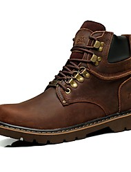 Men's Boots Spring Summer Fall Winter Comfort Nappa Leather Outdoor Office & Career Party & Evening Casual Work & Safety Lace-up