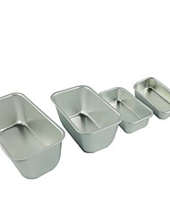 4 pieces /set Big size & medium size Toast cake pan non stick cake mould food grade carbon steel FDA