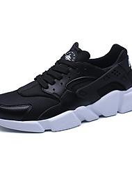 baratos -Homens sapatos Tule Primavera / Outono Conforto Tênis Caminhada Branco / Preto / Vermelho