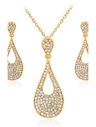 Per donna Collana / orecchini Di tendenza Euramerican bigiotteria Lega Di forma geometrica 1 collana 1 paio di orecchini Per Matrimonio