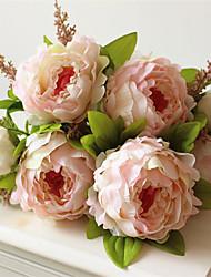 1Pièce / Set 1 Une succursale Plastique Pivoines Fleur de Table Fleurs artificielles