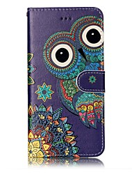 cheap -For iPhone X iPhone 8 Case Cover Wallet Card Holder Embossed Pattern Full Body Case Owl Hard PU Leather for Apple iPhone X iPhone 8 Plus