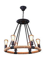 Pendant Light ,  Traditional/Classic Rustic/Lodge Retro Painting Feature for Designers MetalLiving Room Bedroom Dining Room Study