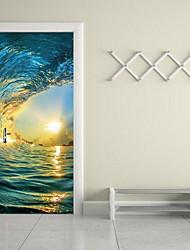 abordables -Paisaje Pegatinas de pared Calcomanías 3D para Pared Calcomanías Decorativas de Pared,Vinilo Material Decoración hogareña Vinilos