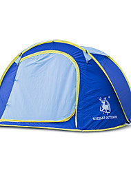 Недорогие -3-4 человека Световой тент Двойная Палатка Однокомнатная Всплывающая палатка Влагонепроницаемый Водонепроницаемость С защитой от ветра