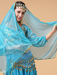 cheap -Belly Dance Veil Women's Performance Tulle Crystals / Rhinestones Headwear / Veil