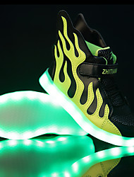 cheap -Boys' Shoes Tulle Spring Comfort / Light Soles / Light Up Shoes Sneakers LED for Black / White / Black / Green / White / Blue