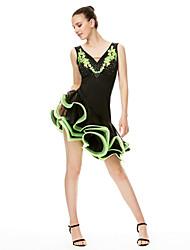 Shall We Latin Dance Dresses Women's  Performance  Organza High Dress