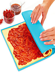 cheap -1Pcs 31Cm*26Cm*0.8Cm Non-Stick Silicone Mat Multifunction Oven Cooking Pad Cake Swiss Roll Pizza Dough Pad Bakeware   Random Color